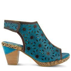Spring Step Women's Marjan Dress Sandals (Turquoise MultiLeatherr)