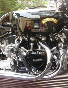 """""""Gunga Din"""" Motor -famous Vincent racing motorcycle that would be the predecessor to the Black Shadow & Black Lightning. Motorcycle Engine, Motorcycle Design, Bike Art, Motorcycle Bike, Classic Motorcycle, Antique Motorcycles, British Motorcycles, Custom Motorcycles, Custom Bikes"""