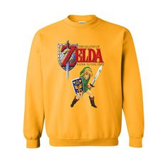 the legend of zelda a link to the past sweatshirt from teeshope.com This sweatshirt is Made To Order, one by one printed so we can control the quality.