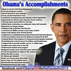 A LONG List Of President Obama's Accomplishments (With Citations)