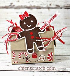 12 Days of Christmas 2016 Day 3  This little Basket Boxis my 3rd project for the 12 Days of Christmas. I used a 10 x 5-1/8 piece of Crumb CakeCard Stock to make the box and decorated it with the Can