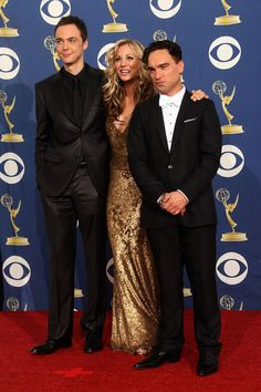 Jim Parsons, Kaley Couco, Johnny Galecki @ 61st Emmy Awards Press Room - jim-parsons Photo