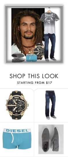"""Mr. Diesel"" by bren-johnson ❤ liked on Polyvore featuring Diesel, Steve Madden, Affliction, mens, men, men's wear, mens wear, male, mens clothing and mens fashion"