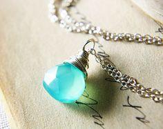 Sky Blue Stone Necklace