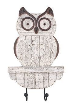 Rustic Owl Wall Decor with Hook on HauteLook