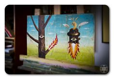 *NEWS!!! - burning tree* by Robert Romanowicz, via Behance
