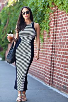 summer stripes maxi