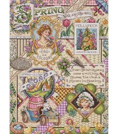 Janlynn Spring Sampler Counted Cross-Stitch Kit