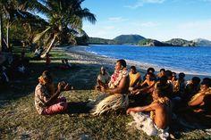 Blue Lagoon cruise, Fiji  Navotua village kava ceremony on Blue Lagoon cruise.