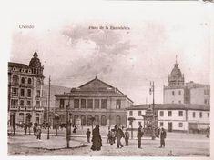 UNA DE LAS JOYAS MÁS PRECIADAS DE OVIEDO.     Plaza de la Escandalera después de 1904, tras la construcción de las conocidas Casas Conde (...