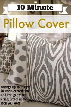 The 10 minute DIY pillow cover!