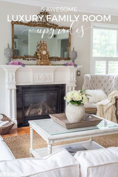 Family Room | Are you looking to update the room you spend most of your time in? These family room upgrades will add luxury and comfort to your most used room. -----> #familyroomideas #familyroom #familyroomdecorating #neutrallivingroom #livingroomdecor #livingroomideas #familyroomdecor #livingroomdecorideas #smarthome #smartlightswitch