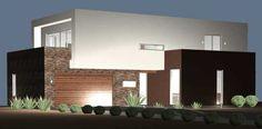 Planos y Fachadas de Casa Habitación Estilo Minimalista desarrollada en dos niveles con 2 Recamaras o Dormitorios con opción a ampliarse a 3 recamaras | Proyectos de Casas