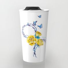 #mug #drink #travelmug #awarenessribbon #endometriosis #roses