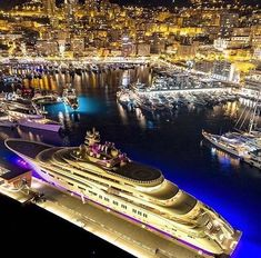 M/Y Dilbar in Monaco by Luxury Yachts, Luxury Cars, Expensive Yachts, Yatch Boat, Assurance Auto, Yacht Cruises, Fast Boats, The Future Is Now, Billionaire Lifestyle