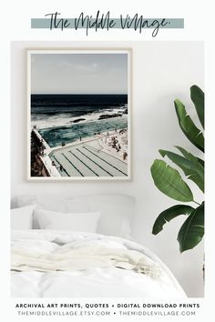 Sydney Bondi Icebergs Club Pool Print DOWNLOADABLE photo prints Bondi   Icebergs Pool Bondi Wall Art. Classic Australian Coastal Print by 'The   Middle Village'. View our range of curated Fine Art Prints for your home decor.