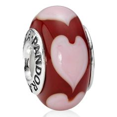 red love pink heart my hubby got me for my Pandora.....♥