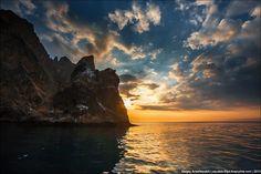 Picturesque coast of Karadag Nature Reserve in Crimea, Ukraine