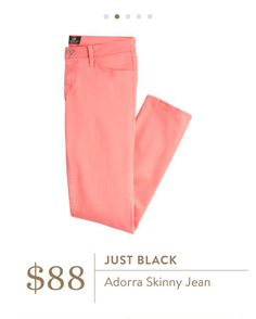 Stitch Fix: Just Black Adorra Skinny Jean - Coral skinny jeans, love this color <3 !