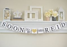 Bridal Shower Banner, Soon To Be Mrs Banner, Bridal Shower Decorations, Gold Bridal Shower Banner, Bachelorette Party, Glitter Gold, B200