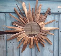 Large Nautical Round Driftwood Mirror
