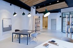 white forest studio/office given minimal overhaul by mix & match