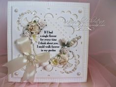 Flowers, Ribbons and Pearls: Create a Card - Extravagance