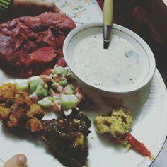 Indian food #beetrootpuri