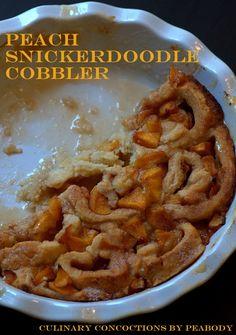 Peach Snickerdoodle Cobbler