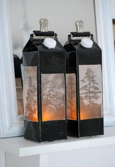 Lanterns (mamas kram) - November is the time of lights and lanterns for me. Fun Crafts, Diy And Crafts, Paper Crafts, Diy For Kids, Crafts For Kids, Tetra Pak, Upcycle, Projects To Try, Scrapbooking