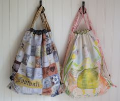 Show Off Saturday: Easy and Fun Drawstring Backpacks — SewCanShe | Free Daily Sewing Tutorials