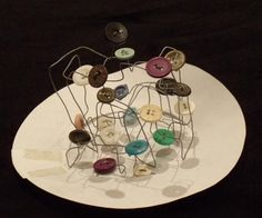Button wire sculpture