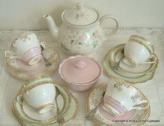 Vintage Tea Set for 4 with 'Sadler' Teapot by AlicesChinaCupboard