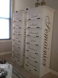 Semanier, originally meant to hold a week's load of clothes (Semaine = French for week). Painted Furniture For Sale, Decoupage Furniture, Refurbished Furniture, Repurposed Furniture, Shabby Chic Furniture, Furniture Projects, Furniture Makeover, Home Projects, Rivera Maison