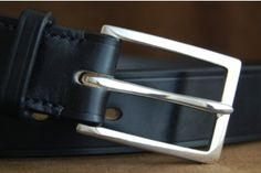 Sterling silver buckle, beautiful leather belts from Equus