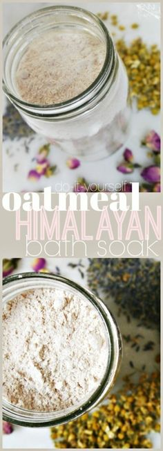 Himalayan Oatmeal Bath Soak - Jenni Raincloud - Wilson is Home Bath Tea, Milk Bath, Oatmeal Bath, No Salt Recipes, Bath Recipes, Tips Belleza, Drying Herbs, Homemade Beauty, Homemade Facials