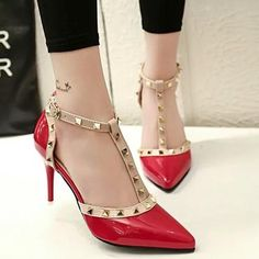 Cheap wedding shoes for women, Buy Quality wedding shoes directly from China pointed toe pumps Suppliers: Fashion Rivet Patent Leather high-heeled Sandals Sexy Thin High Heels Pointed Toe Pumps Wedding Shoes For Women Black Red Gray Wedding High Heels, Lace Up High Heels, Super High Heels, Open Toe High Heels, High Heels Stilettos, Womens High Heels, Black Heels, Wedding Shoes, Black Boots