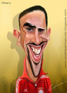 Caricatura de Franck Ribéry.