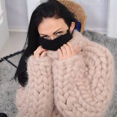 New collection coming soon. More than 40 new designs available ! - New collection coming soon. More than 40 new designs available ! Thick Sweaters, Hand Knitted Sweaters, Wool Sweaters, Sweaters For Women, Gros Pull Mohair, Chunky Knitwear, Big Knits, Angora Sweater, Sweater Outfits