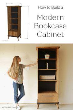 Plywood Shelves, Plywood Panels, Cabinet Boxes, Cabinet Drawers, Open Shelving, Adjustable Shelving, Diy Furniture Tutorials, Modern Bookcase, Shelf Design