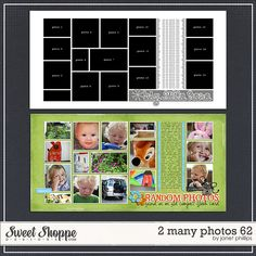 Sweet Shoppe Designs :: Templates & Tools :: Layout Templates :: 2 Many Photos 62 by Janet Phillips