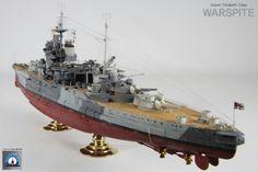 HMS Warspite - Queen Elizabeth-class battleship built by master modeler Kim hyun-soo, South Korea.