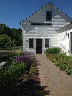 Lovely gardens in front of MainStreet BookEnds in Warner, NH