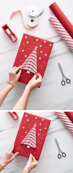 Add that something extra-special to your gifts this year with beautiful wraps and ribbon from The Container Store!