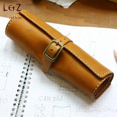 leather bag patterns pen case pencil case rolling bag pattern PDF QQW-36 LZpattern design leathercraft patterns leather craft leather art