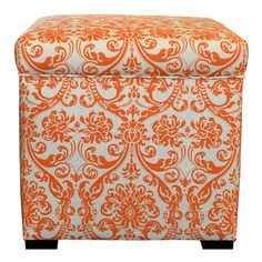 Add a pop of pattern to your home decor with this stylish storage ottoman.  Product: Ottoman Construction Material: C...