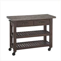 Home Styles Concrete Chic Kitchen Cart