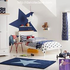 Buy little home at John Lewis Stars & Stripes Duvet Cover and Pillowcase Set, Single from our Children's Bedding Sets range at John Lewis & Partners. Free Delivery on orders over Home Bedroom Design, Boys Bedroom Decor, Bedroom Ideas, Boys Star Bedroom, Bedroom Furniture, Childrens Curtains, Childrens Beds, John Lewis, Single Duvet Cover