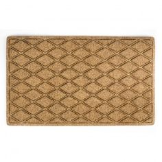 Our doormat's elegant hexagon pattern makes for an ideal entrance to your home. This woven 80% polyester and 20% olefin fiber needle-punch mat is more durable than traditional coir.