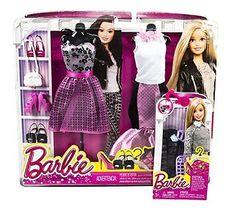 Maven Gifts: Barbie Fashion Bundle - Pink Formal Complete Look 2-Pack Set wit...